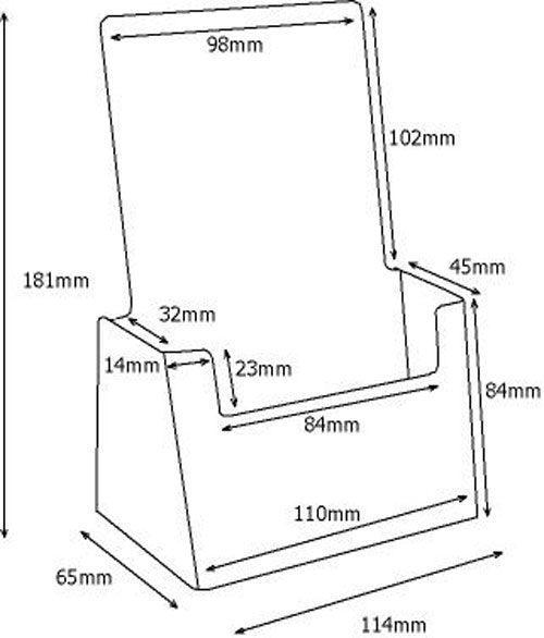 Crtez Taymar stalak-za-flajere-sa-jednim-dzepom-c110-crtez