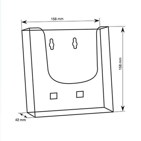 Crtez ekonomik zidnost stalka za flajere sa jednim dzepom, format A5