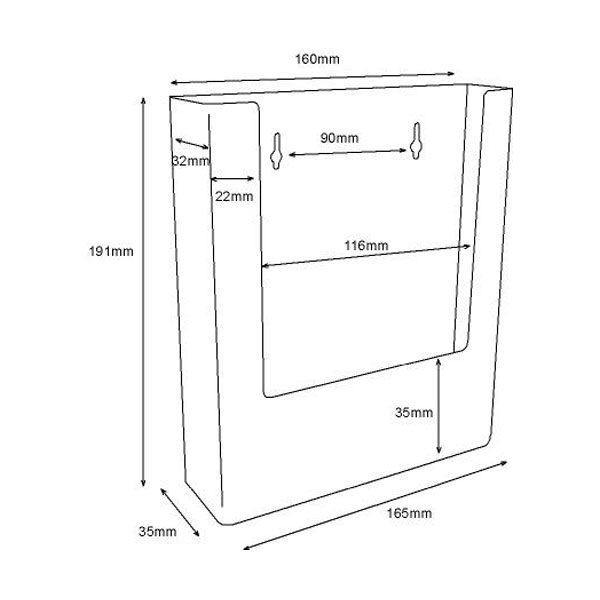 Crtez Taymar zidni stalak za flajere – W160