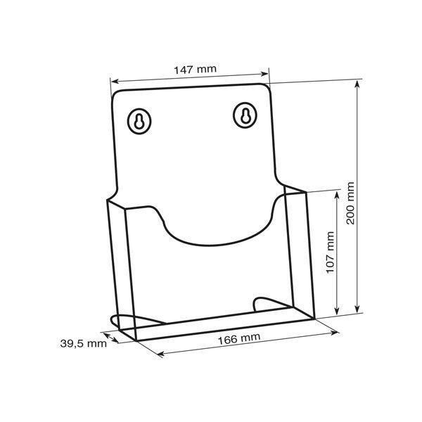 Crtez ekonomik stalka za flajere sa jednim dzepom, format A5