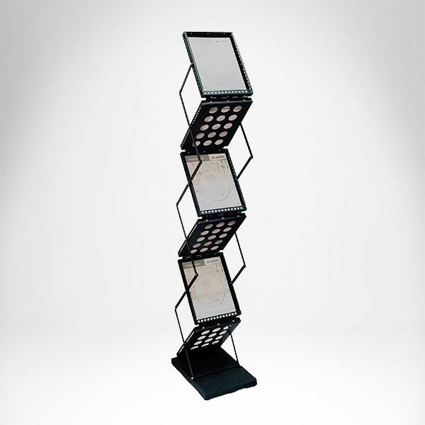 ZIG ZAG sklopivi podni stalk za flajere sa 6 dzepova A4 formata